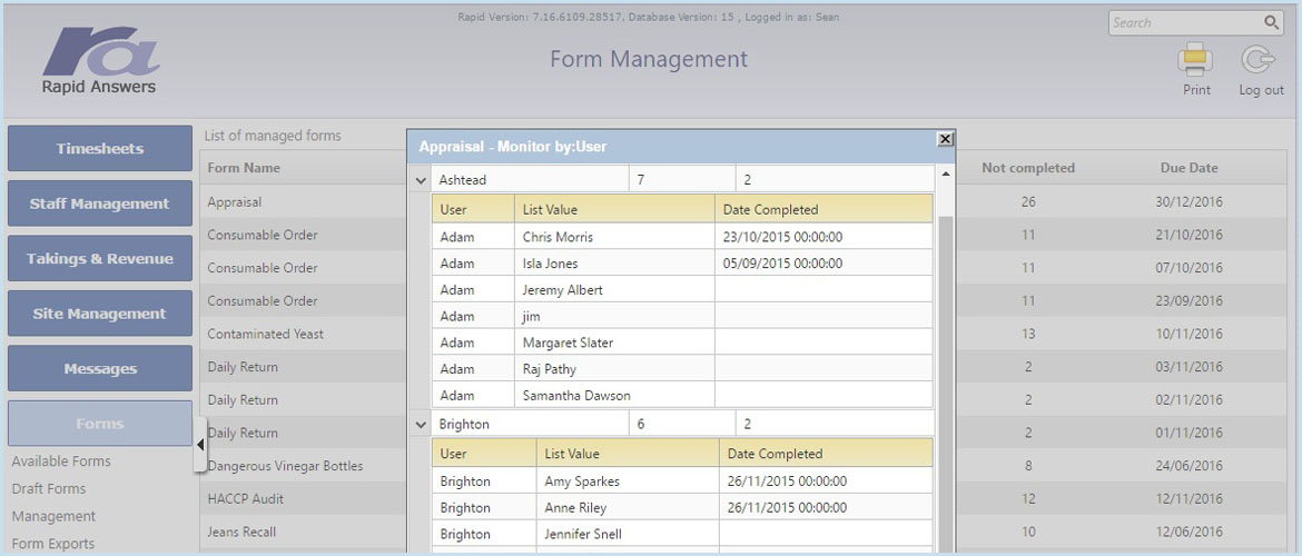 Form Management